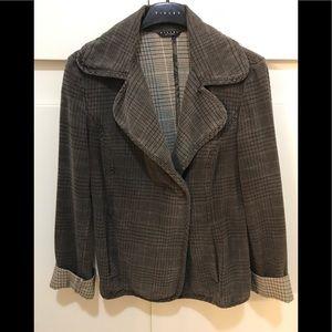 Vintage Sisley Plaid Checkered Petite Blazer